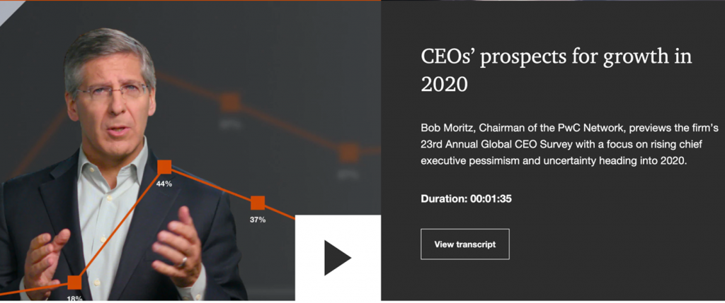 Video of their PwC's Chairman explains the original research findings.