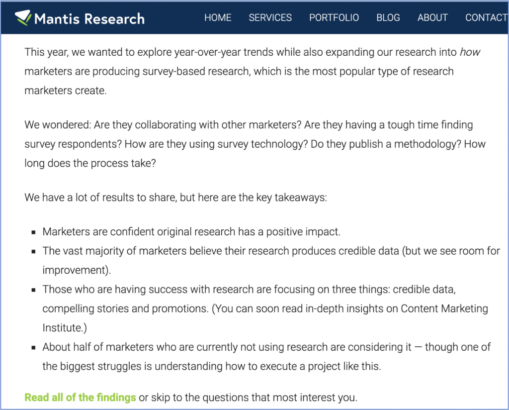 Mantis Research tells a good story with data from original research.
